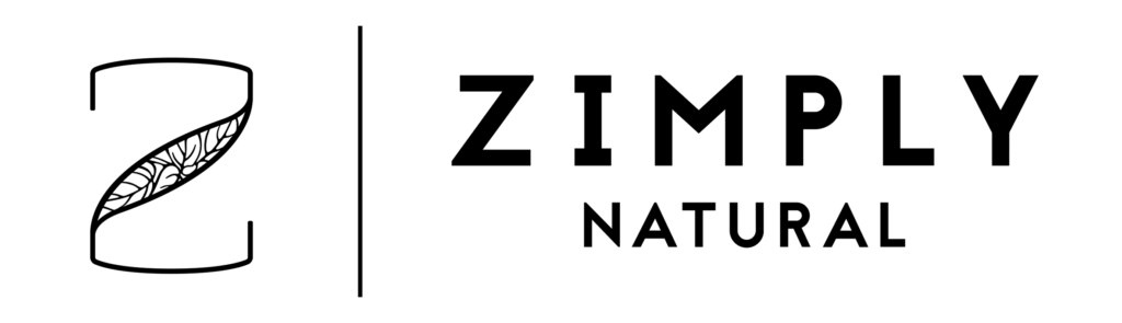 Schwarzes ZIMPLY NATURAL Logo klein