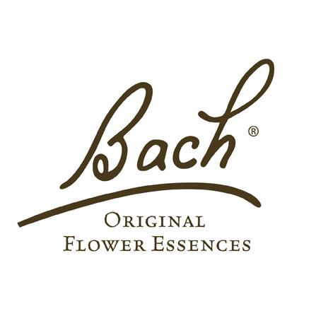 Logo von Bach & Bachblüten mit englischer Firmenbeschreibung