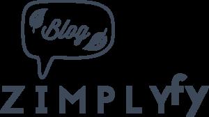 Logo des zimplyfy-Blogs mit Bubble und Blättern als Blogsymbol